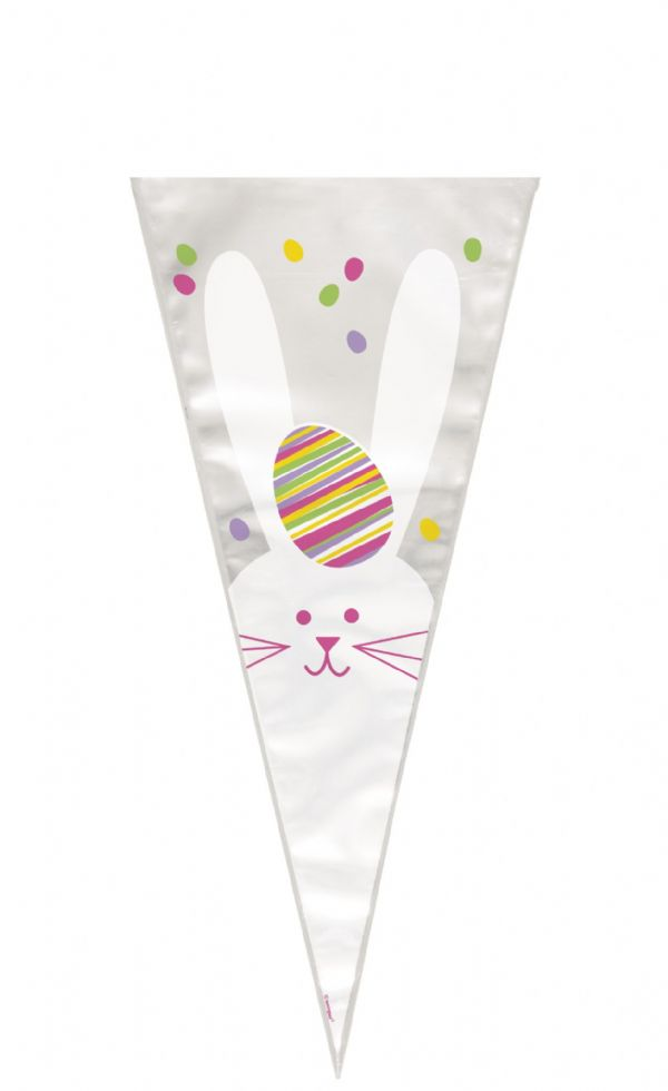 Easter Bunny Cone Gift Bags with Ties